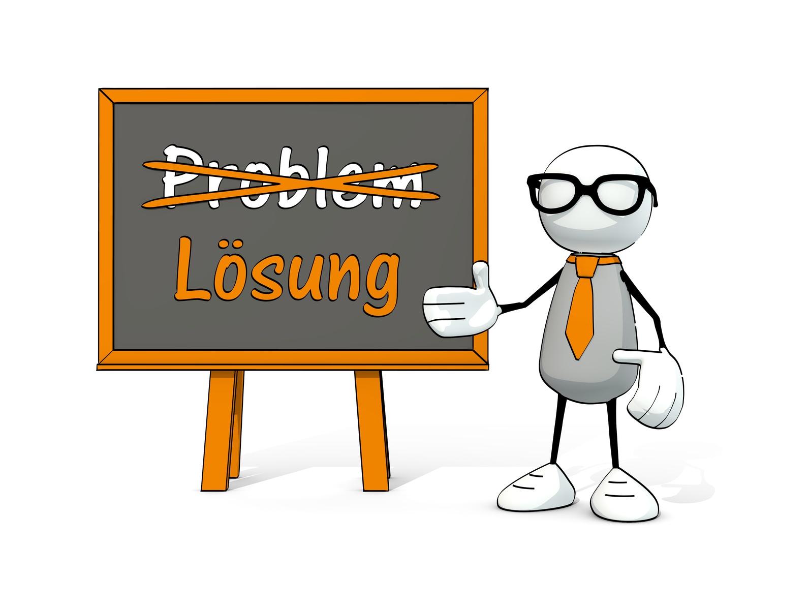 Wir finden für Ihr Problem eine schnelle Lösung